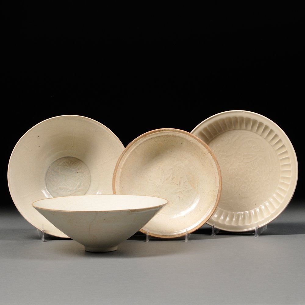 Four Ceramic Items, China, Song Dynasty style, two