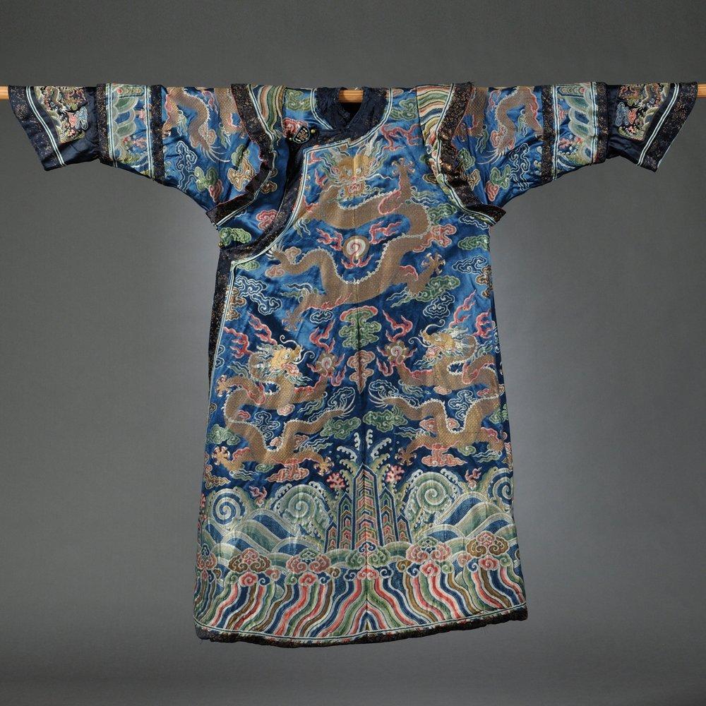 Manchu Woman's Formal Court Robe, China, Qing Dynasty,