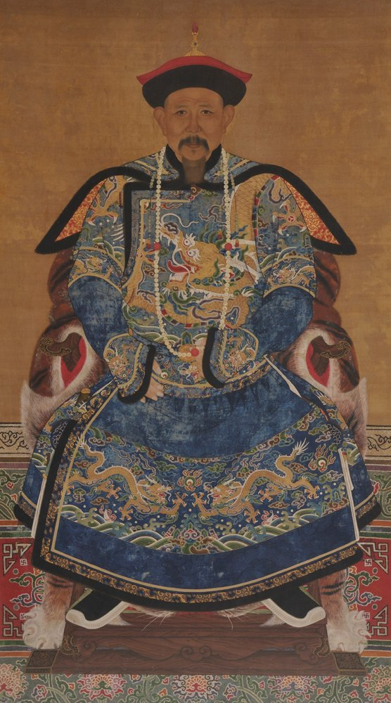 Portrait of a High-Ranking Courtier, China, Qing