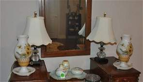 7 decorative lamps, some are vintage