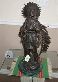 """Beautiful bronze sculpture """"War""""  by Karl Kauba,"""