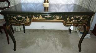 Continental Polychrome and painted writing desk