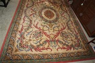 Large area rug with floral design, center medallion,