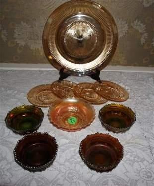 Collection of Carnival glass