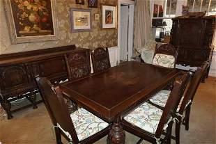 English oak dining suite