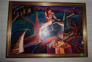 An original oil on canvas by Karen ABlazer Zarin
