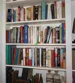 3 shelves of novels