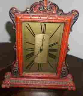 DeLuxe Clock & Mfg, Co. mantle clock with key,