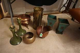 Collection of copper & brass