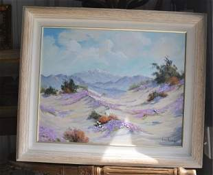 Oil painting of a California scene by Palm Springs
