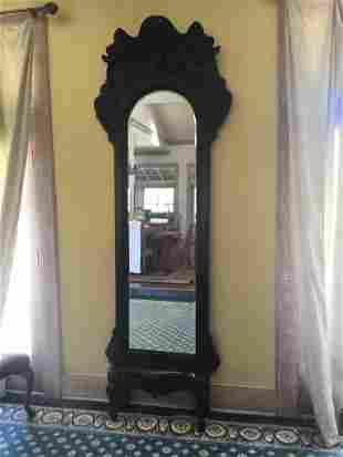 Beautiful mahogany ornate pier mirror with bench