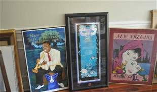 3 framed New Orlean's prints