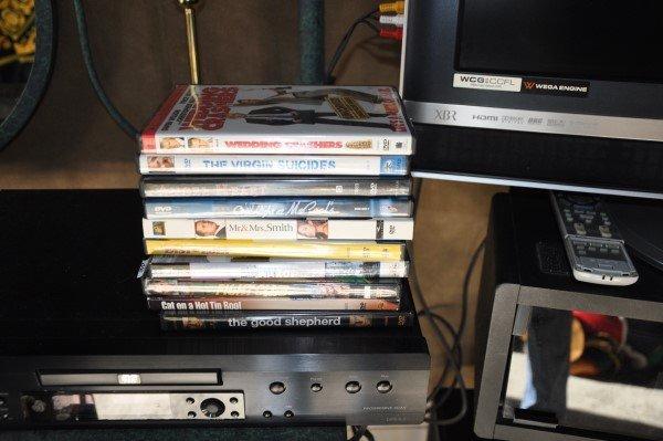 """32"""" Bravia Sony XBR TV, Integra DVD Player, 10 DVDs - 3"""