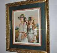 """Framed Print by Patty Banister """"SISTERS"""", double mat (1"""
