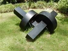 "Cor-Ten steel sculpture by Merrill Sigee ""Knot"" 42"" L x"
