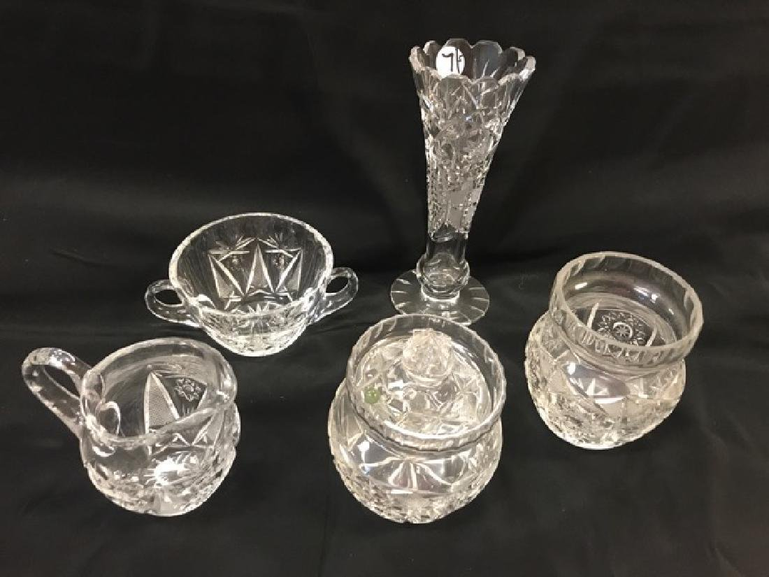 Lot of Cut Glass Pieces
