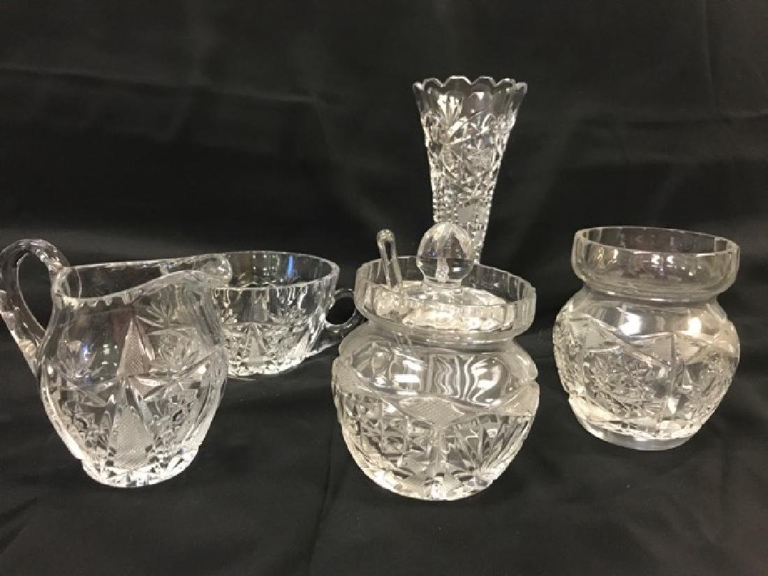 Lot of Cut Glass Pieces - 2