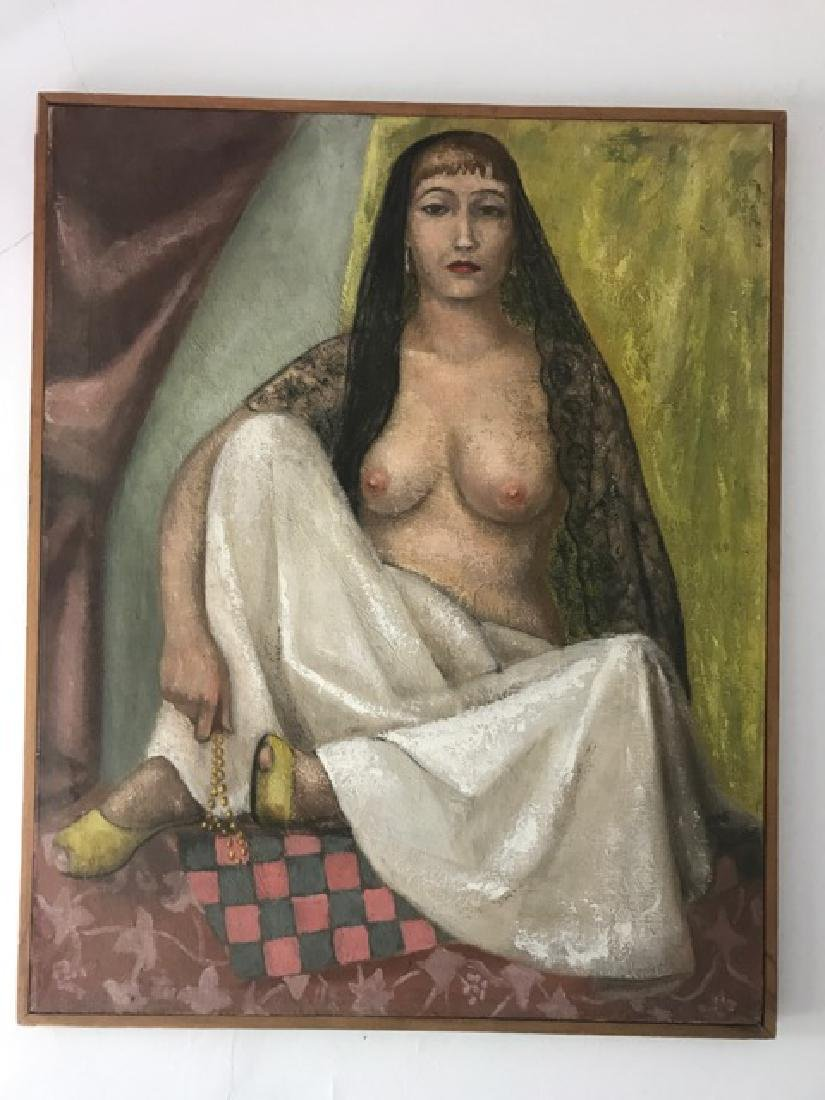 Oil Painting of a Semi Nude Woman