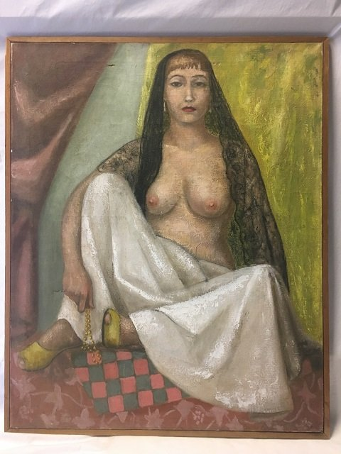 Oil Painting of a Semi Nude Woman - 2