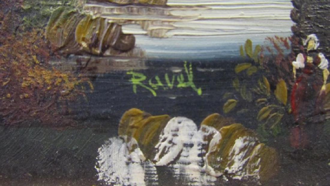 Two Oil on Boards Signed Ravel - 11