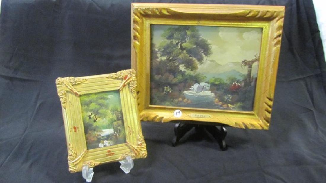 Two Oil on Boards Signed Ravel