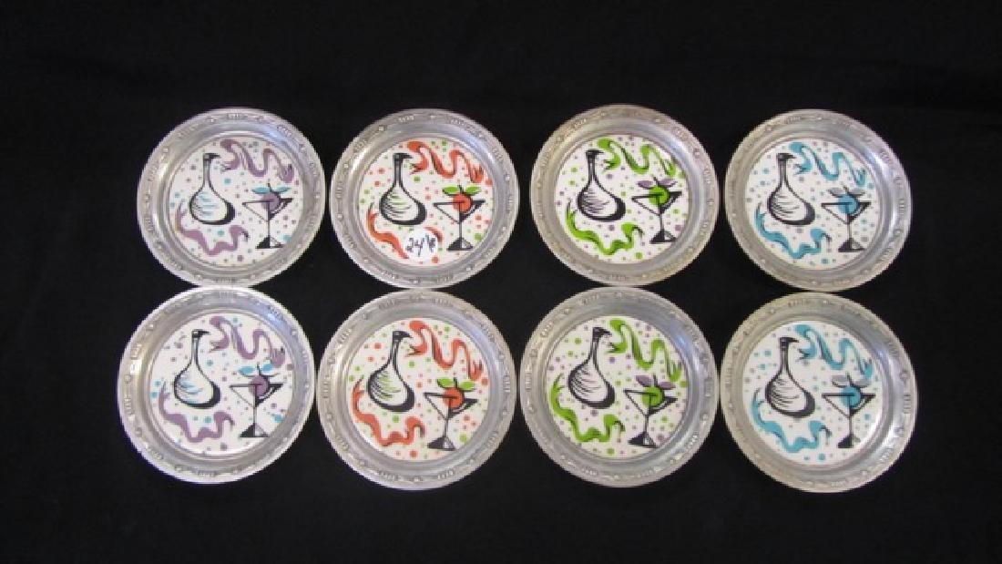 Mid-Century Aluminum Coasters (8)