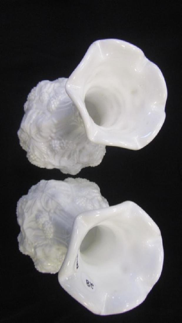 Pair of Milkglass Vases - 3