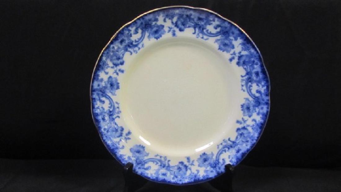 Doulton Burslem Flow Blue Plates & Bowls (15) - 3