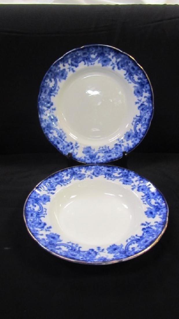 Doulton Burslem Flow Blue Plates & Bowls (15) - 5
