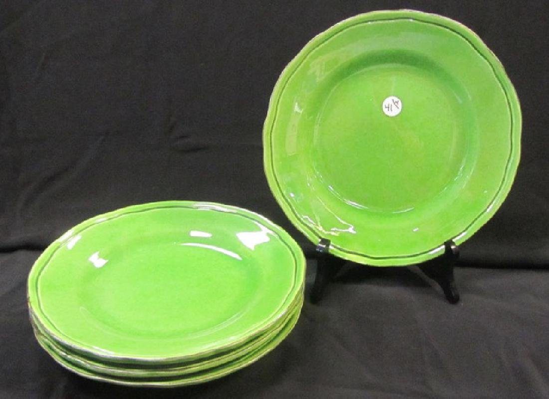 French Pottery Dinner Plates