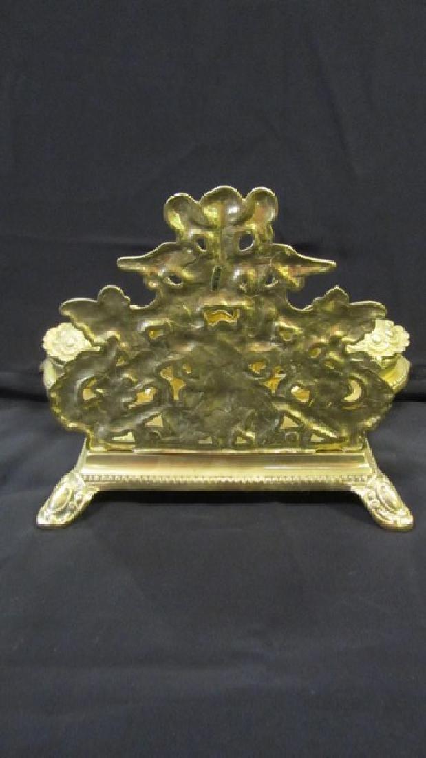 Brass Desk Set with Cherubs - 4
