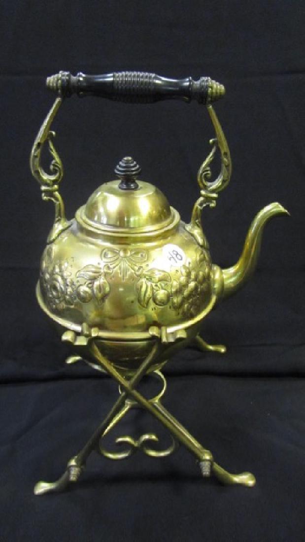 Brass Tea Pot on Stand