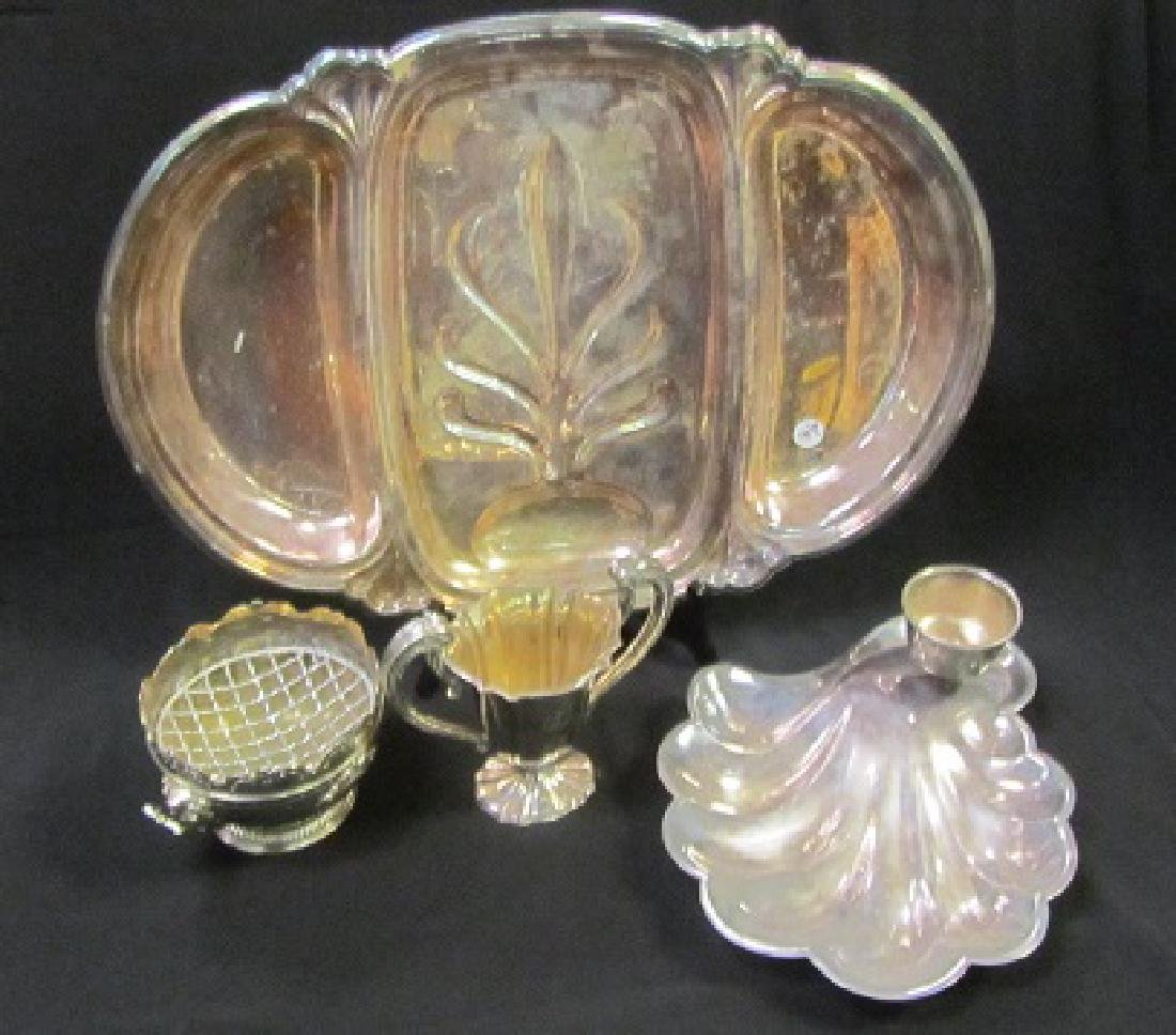 Silver Plated Serving Platter Lot