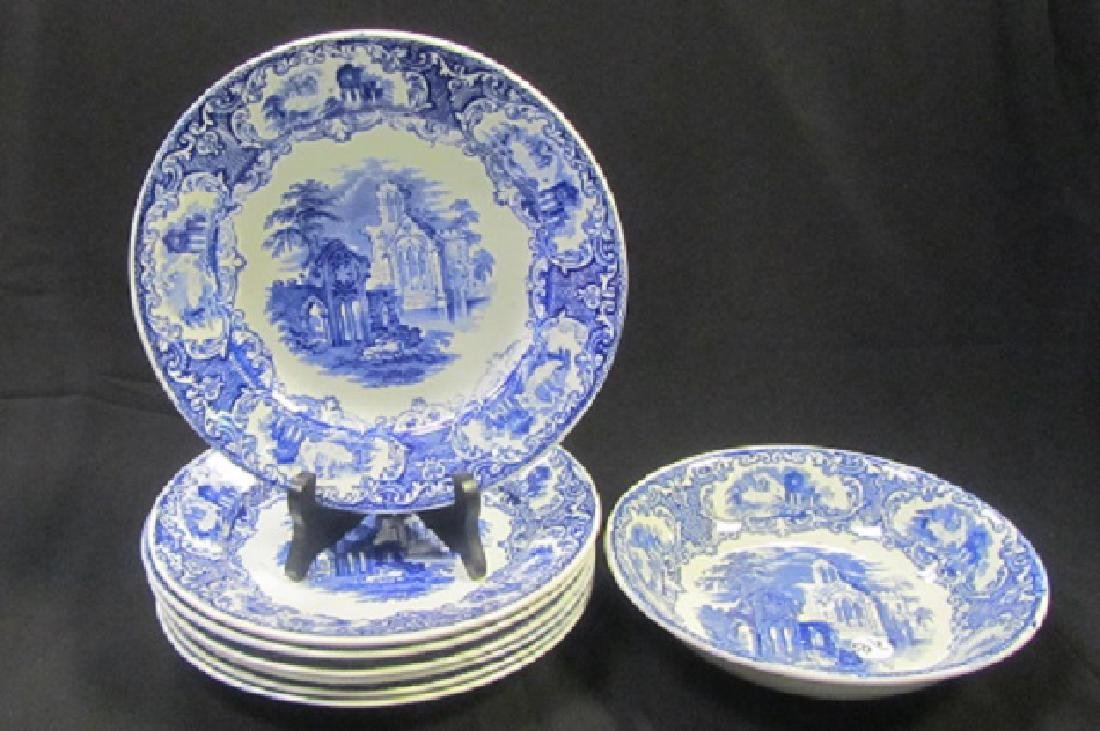 Blue & White Dutch Abbey Dishes