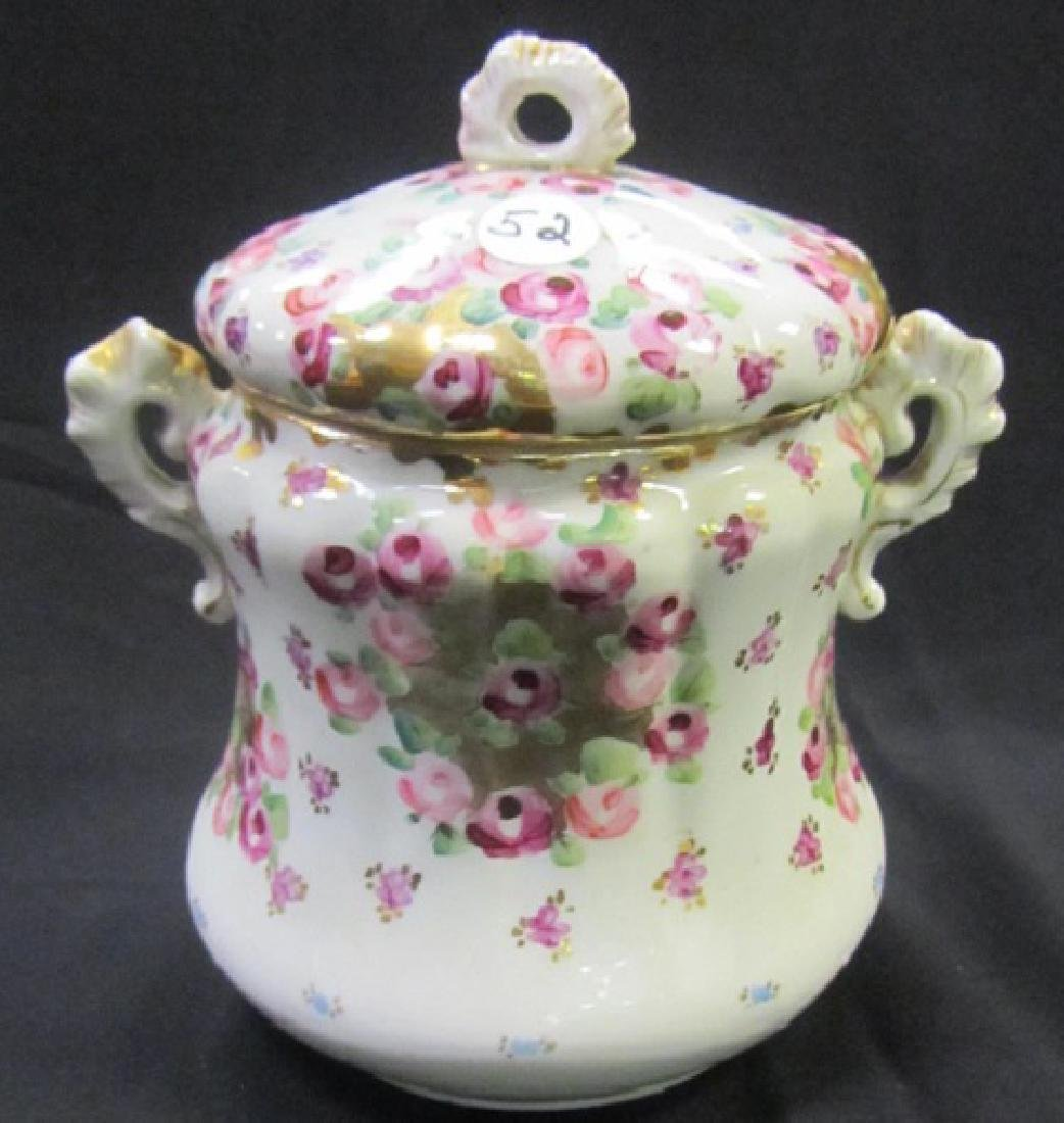 Hand Painted Covered Jar
