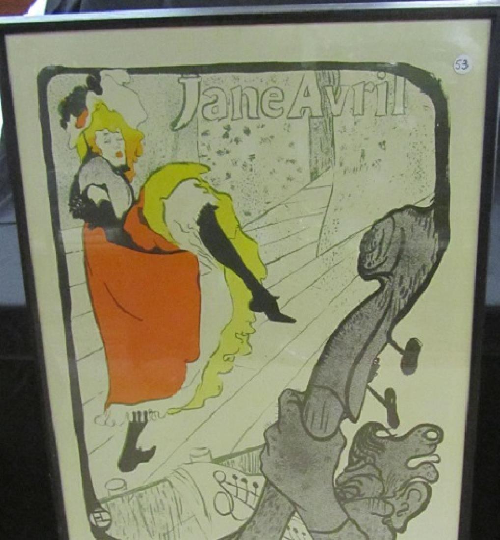 Jane Avril Framed Poster