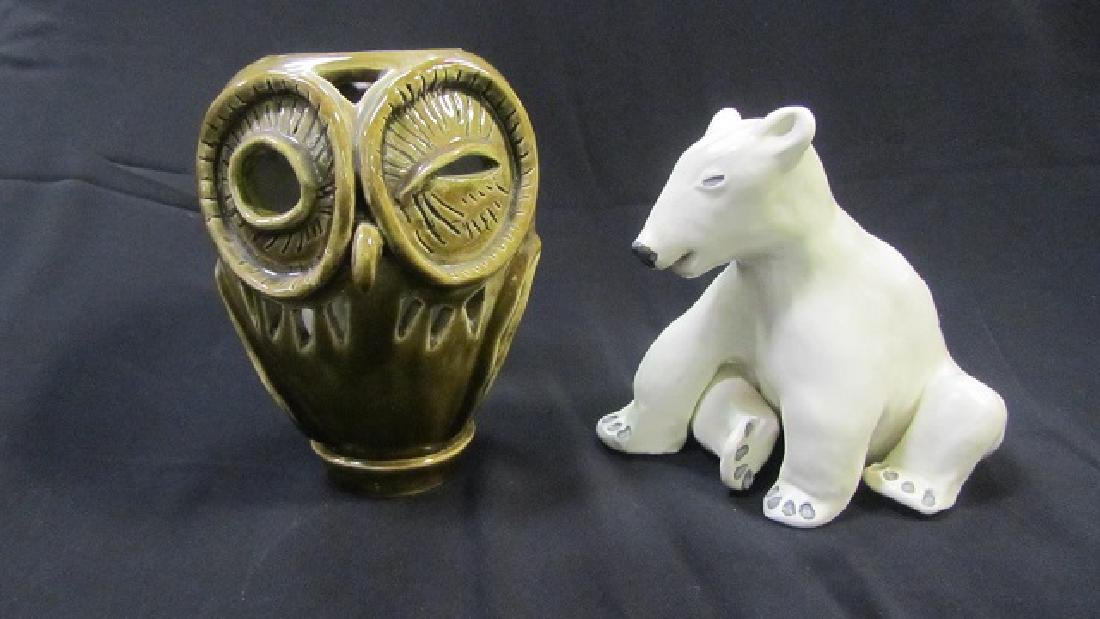 Ceramic Polar Bear & Owl