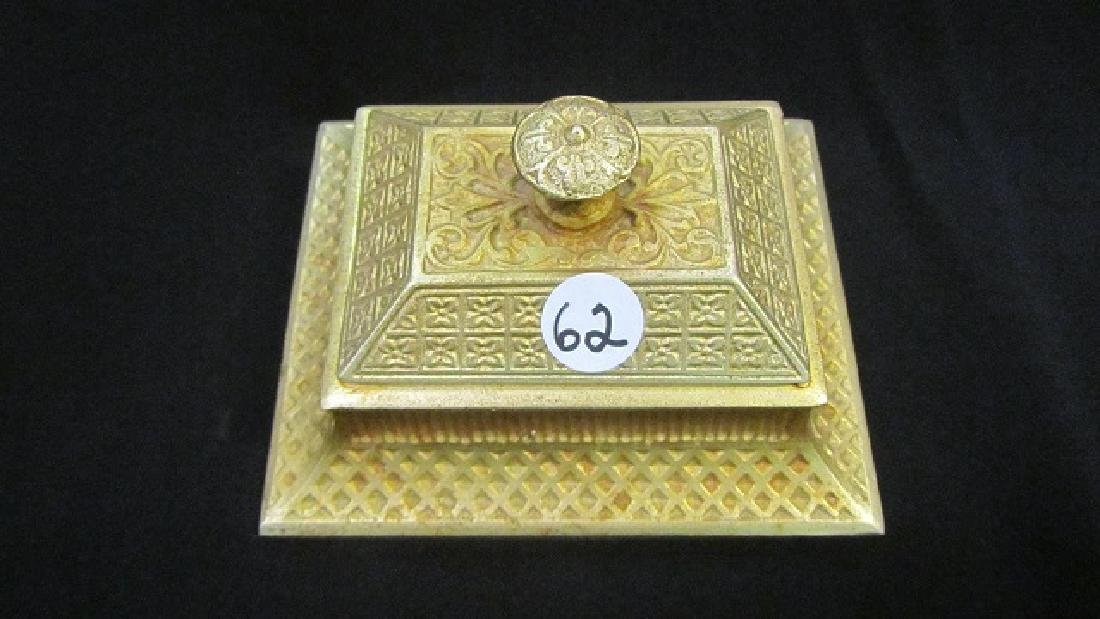 Gilt Covered Match Box