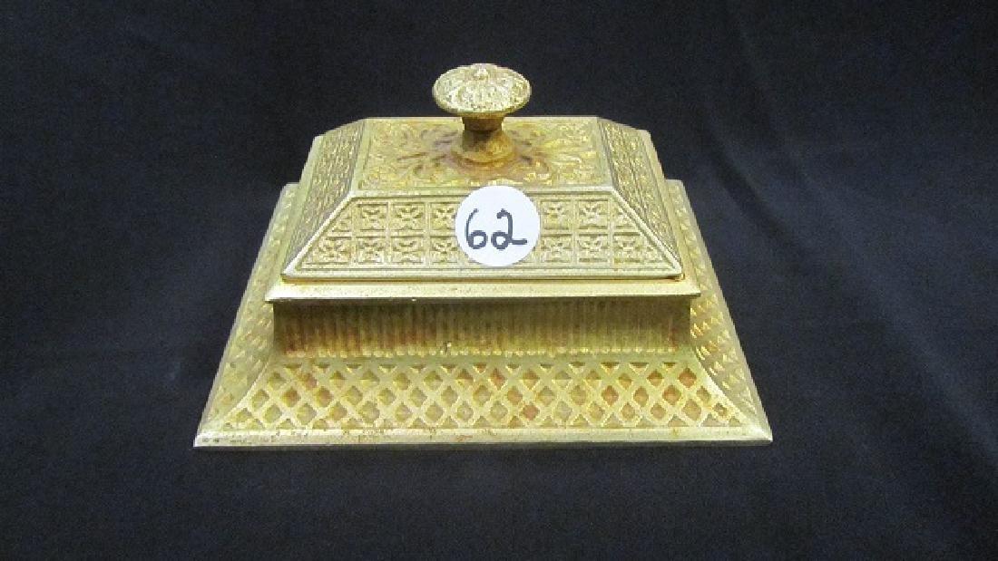 Gilt Covered Match Box - 2