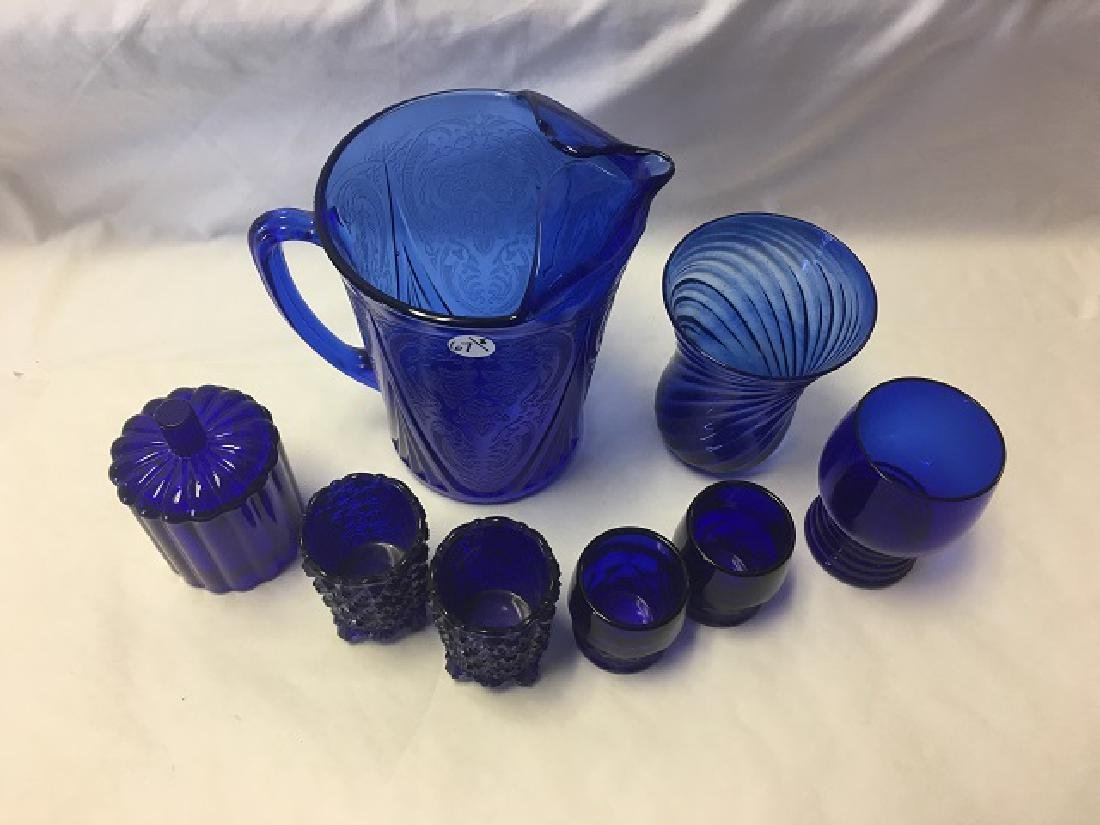 Cobalt Glass Lot (8) - 2