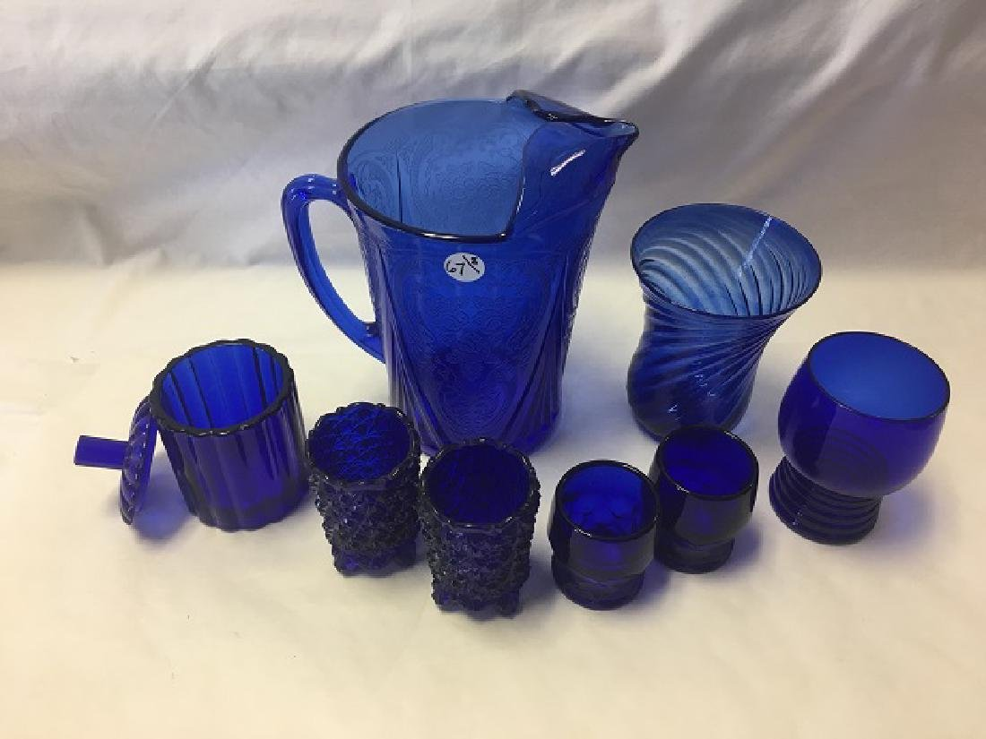 Cobalt Glass Lot (8) - 3