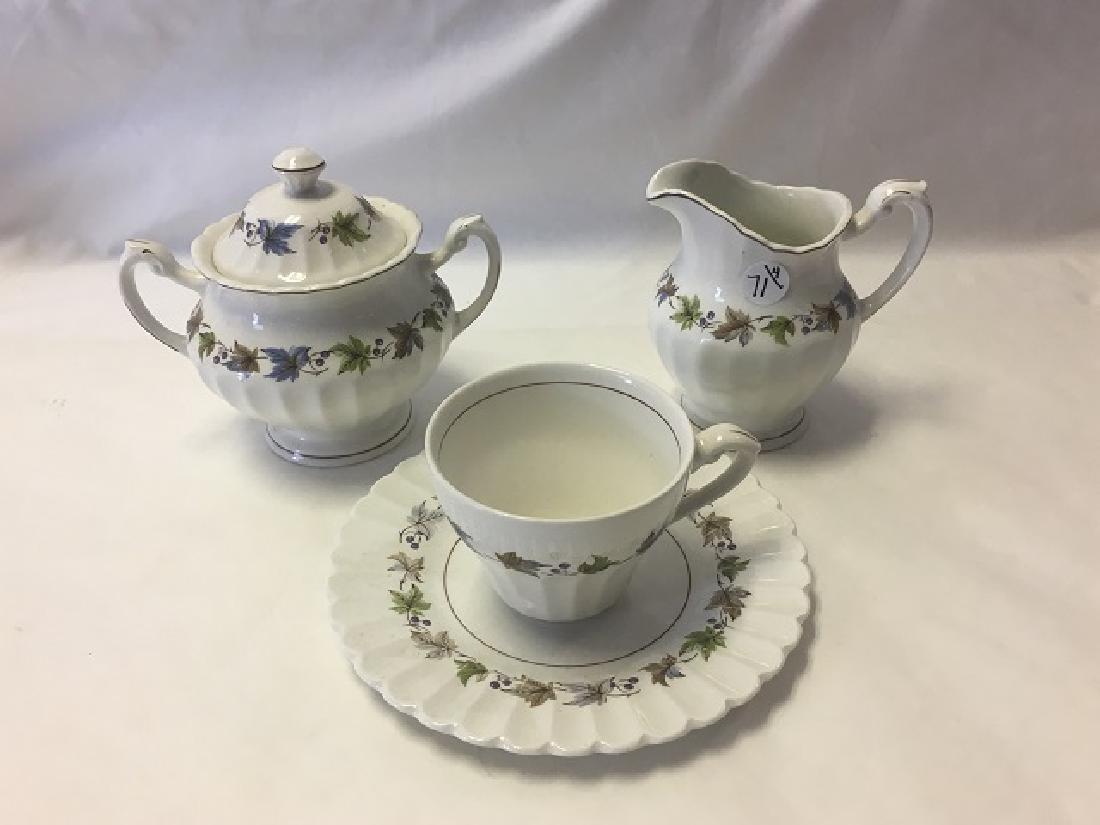 English Creamer, Sugar, Cup & Plate
