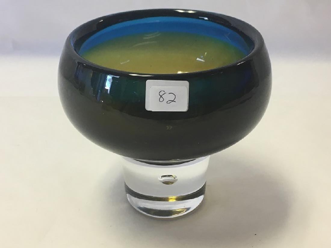 Swedish Art Glass Bowl Signed Kosta