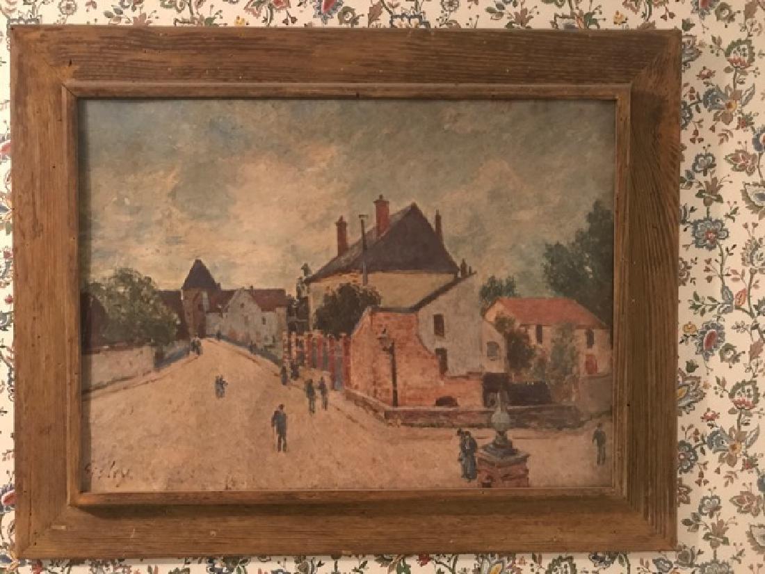 Alfred Sisley Print - Moret Street Scene