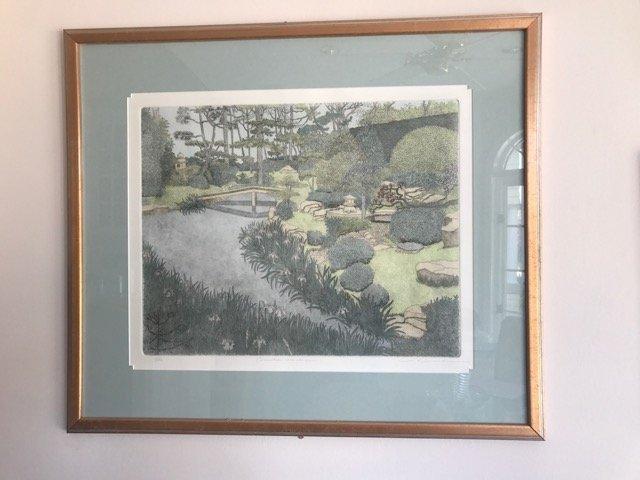Ltd. Ed. Lithograph Oriental Garden Sgd.