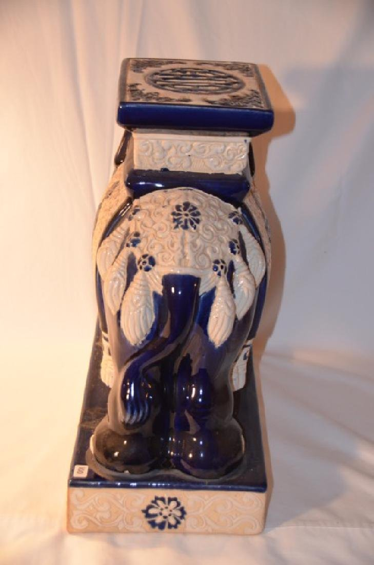 Blue & White Chinese Elephant Stand - 2