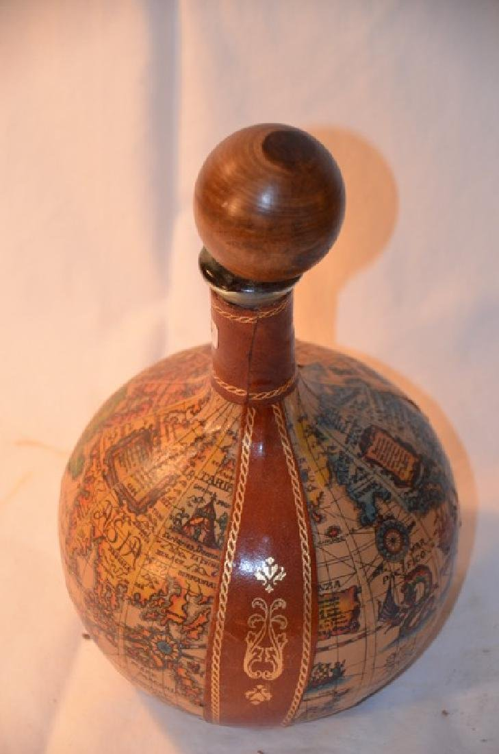 Cordial Decanter with Map Decoration