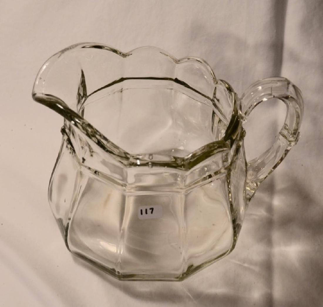 Pressed Glass Water Pitcher - 2