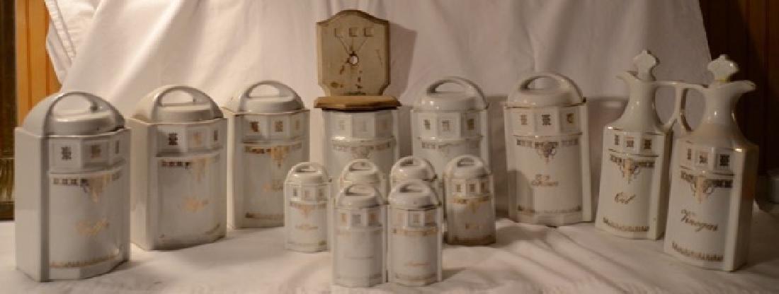 Large German Porcelain Canister Set