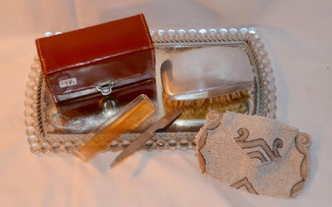 Dresser Items - Tray, Purse, Manicure